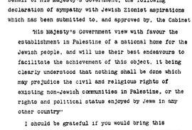 Aanklacht wegens Balfour-verklaring