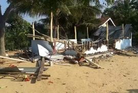 Nieuwe kerk op Sri Lanka volledig afgebrand
