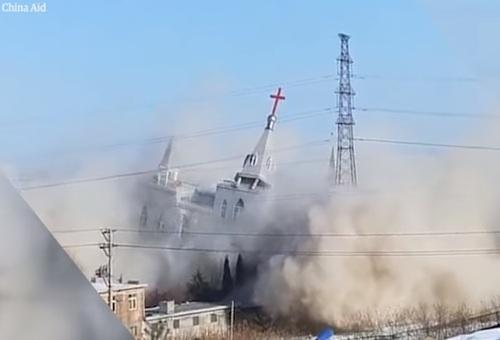 Chinese overheid blaast kerk op